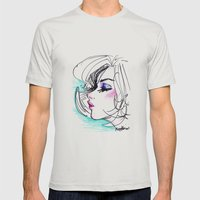 Sharpie Scribble Mens Fitted Tee Silver SMALL