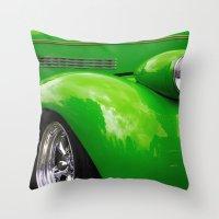 Green Machine Throw Pillow