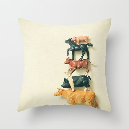 Animal Antics Throw Pillow