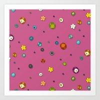 pink pop flower spot Art Print