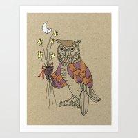 owl nr2 Art Print