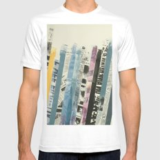 STRIPES 3 Mens Fitted Tee White SMALL