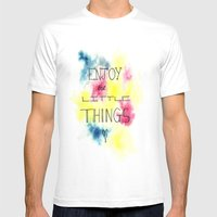 Enjoy The Little Things Mens Fitted Tee White SMALL