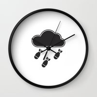 cloudbomb Wall Clock