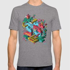 Font Of All Known Ledges Mens Fitted Tee Tri-Grey SMALL