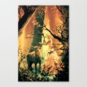 Feral Strings Canvas Print