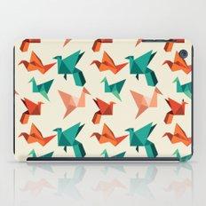 teal paper cranes iPad Case