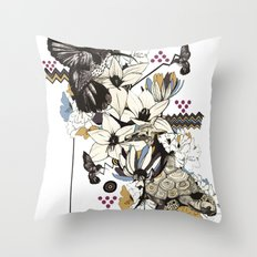 Hummingbird River Throw Pillow