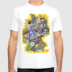 Germany Doodle Mens Fitted Tee White SMALL