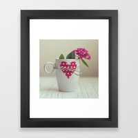 Cup full of love Framed Art Print