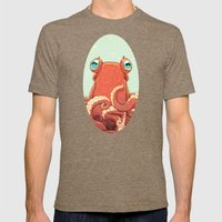 Goldie The Octopus Mens Fitted Tee Tri-Coffee SMALL