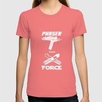 Force beats Phaser Womens Fitted Tee Pomegranate SMALL