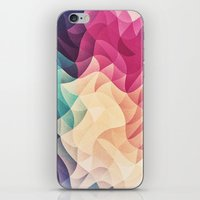 Geometry Triangle Wave Multicolor Mosaic Pattern - (HDR - Low Poly Art) - FULL iPhone & iPod Skin