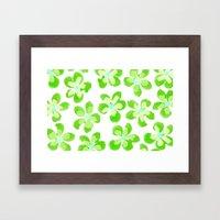 Posey Power - Electric Lime Multi Framed Art Print