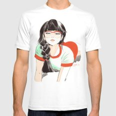 Megane Mens Fitted Tee White SMALL
