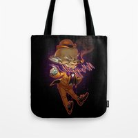 Tote Bag featuring Mr. Mxyzptlk by Sheep-n-Wolves Clothing