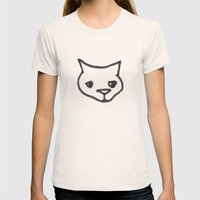 Concerned Cat Womens Fitted Tee Natural SMALL
