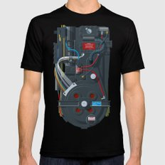 Proton pack, Ghostbusters Mens Fitted Tee Black SMALL