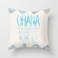 OHANA Throw Pillow