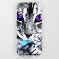 Purple Eyes Cat iPhone 6 Slim Case