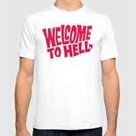 Welcome To Hell! Who Giv… Mens Fitted Tee White SMALL