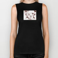 The Visionary Sepia Biker Tank