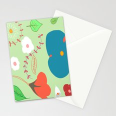 delicious green garden Stationery Cards