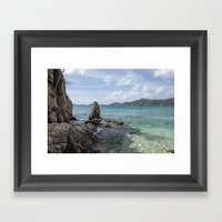 Caribbean Beach Photogra… Framed Art Print
