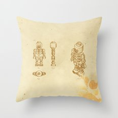 Lego Skeleton Throw Pillow