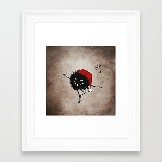 Dark Evil Christmas Bug Framed Art Print