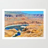 Soaring Over Turquoise A… Art Print