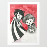 sad children Art Print