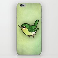 Cute Green Bird iPhone & iPod Skin
