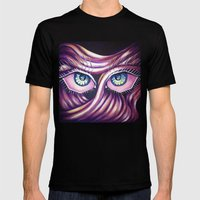 Emotional Eyes Mens Fitted Tee Black SMALL
