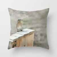 Build Your Nest Throw Pillow