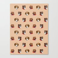 Cute and Elegant Dog Head Graphic Pattern Canvas Print