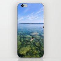Serenity Swim in Lake Superior iPhone & iPod Skin