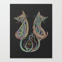 Technicolour Kitties Canvas Print