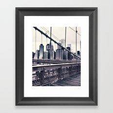 BROOKLYN BRIDGE BY Cd KIRVEN Framed Art Print