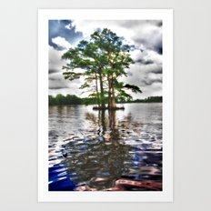 Living Strong Amidst the Flood Art Print