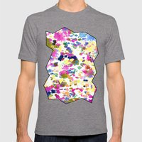 Rose Ann Mens Fitted Tee Tri-Grey SMALL