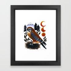 The Blue Ridge Kestrel Framed Art Print