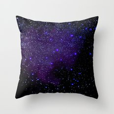 Indigo Purple Stars Throw Pillow