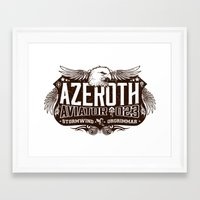 Azerothian Aviators Framed Art Print