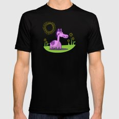 L. Horse SMALL Black Mens Fitted Tee