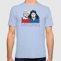 Missing Mens Fitted Tee Tri-Blue SMALL