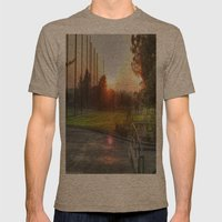 Sunset Golf Mens Fitted Tee Tri-Coffee SMALL