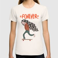 Forever Womens Fitted Tee Natural SMALL