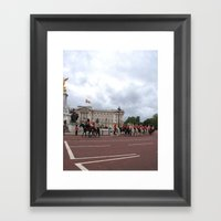 The Guards With Their Ho… Framed Art Print