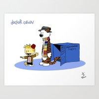 Doctor Calvin Art Print
